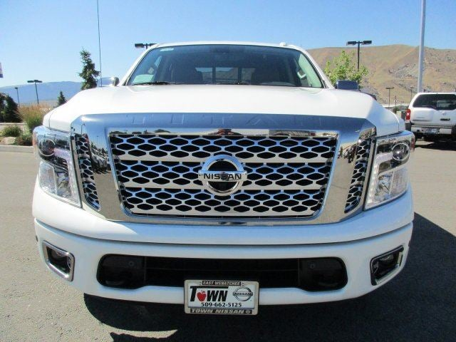 2017 Nissan Titan Platinum ReservePEARL WHITE B92 SPLASH GUARDS -inc overfenders BLACKBROWN