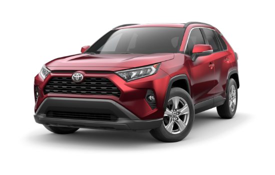 A Red 2019 Toyota Rav4 Xle