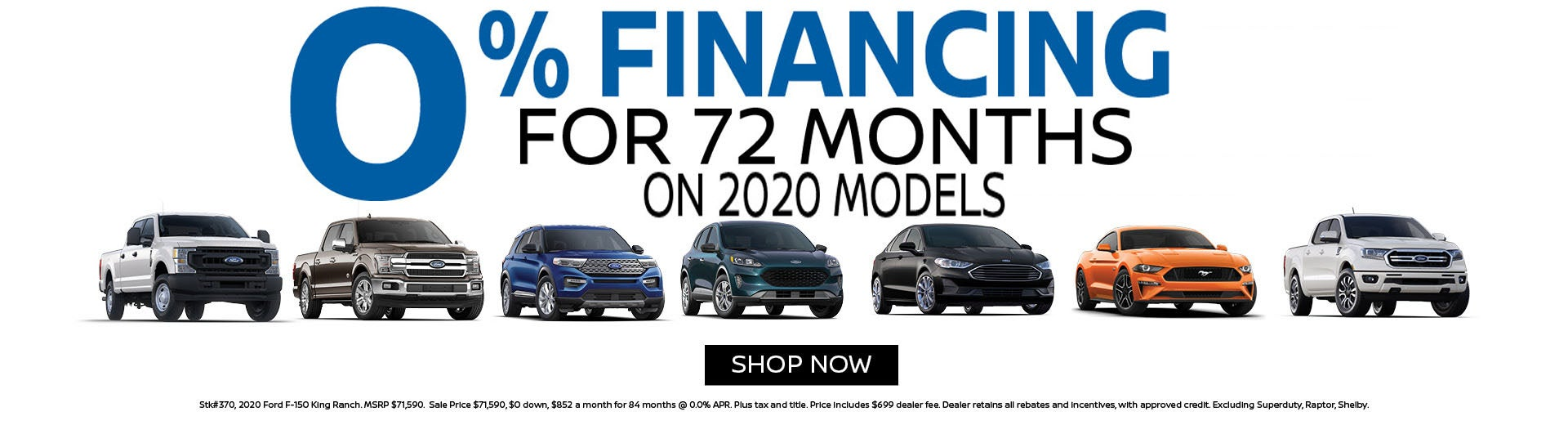 0 Financing For 72 Months 0 Apr On 2020 Ford Models