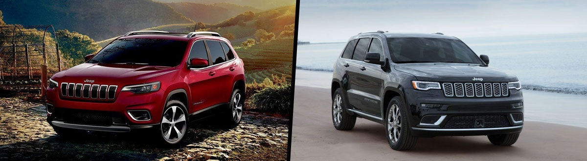 Jeep Cherokee Vs Grand Cherokee >> 2019 Jeep Cherokee Vs 2019 Jeep Grand Cherokee Comparison
