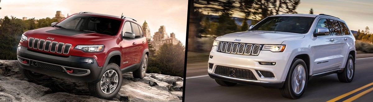 2020 Jeep Cherokee Vs Jeep Grand Cherokee Comparison Taylorville Il