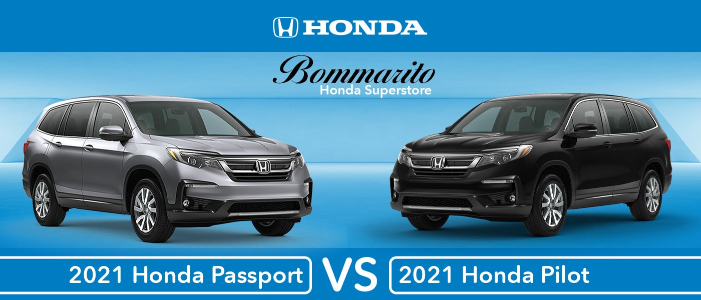 2021 Honda Pilot Vs 2021 Honda Passport A Suv Comparison