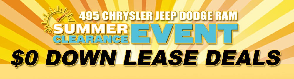 0 Down Lease >> Car Lease Lease Deals Lowell Ma 495 Chrysler Jeep Dodge Ram