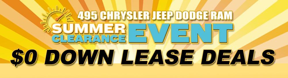 Zero Down Lease Deals >> Car Lease Lease Deals Lowell Ma 495 Chrysler Jeep Dodge Ram