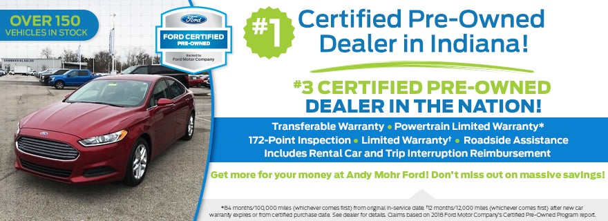 Ford Certified Pre Owned >> Used Car Dealership Greenwood In Andy Mohr Ford