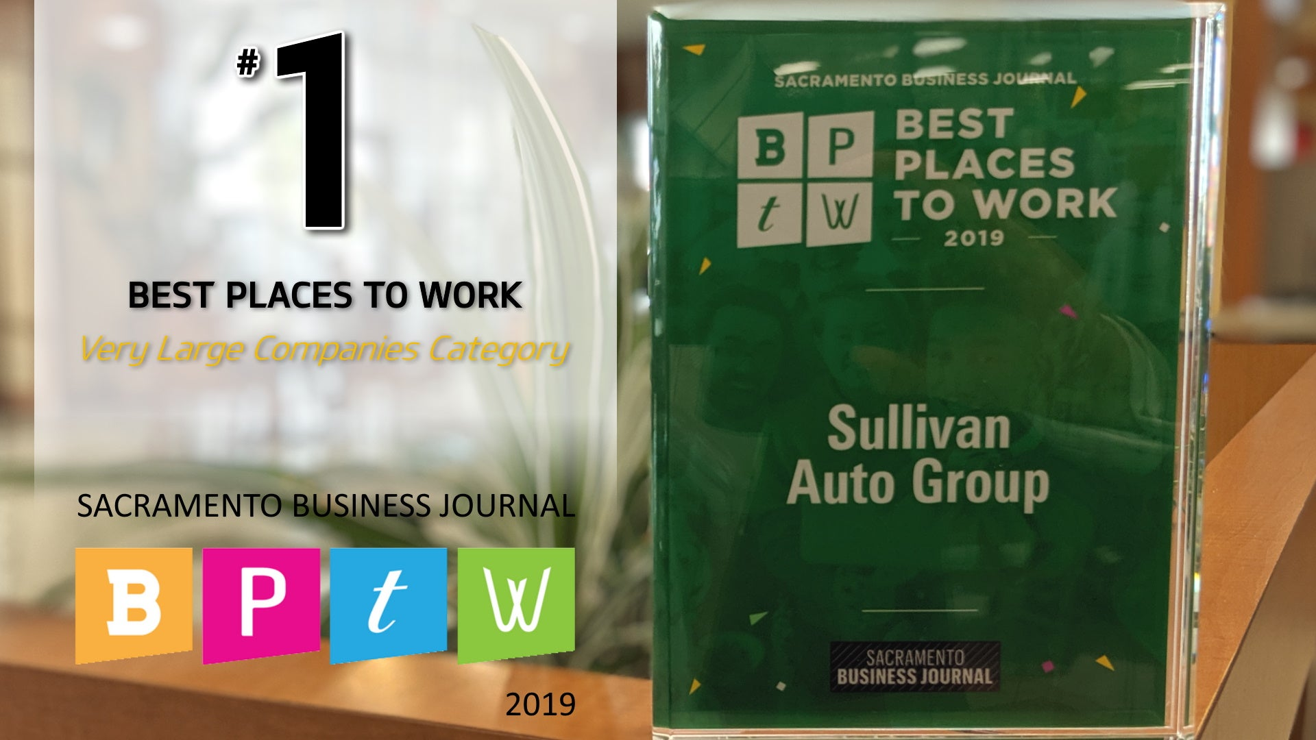Best Places To Work Award 2019