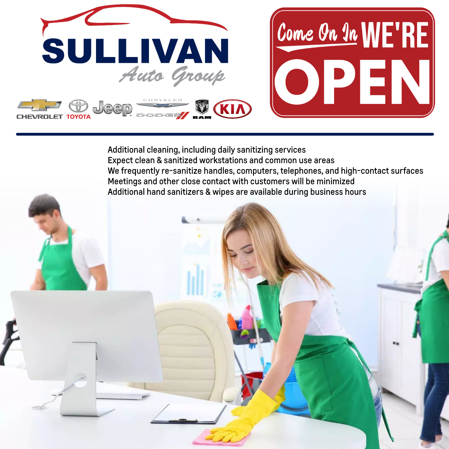 Covid-19 Cleaning at the Sullivan Auto Group