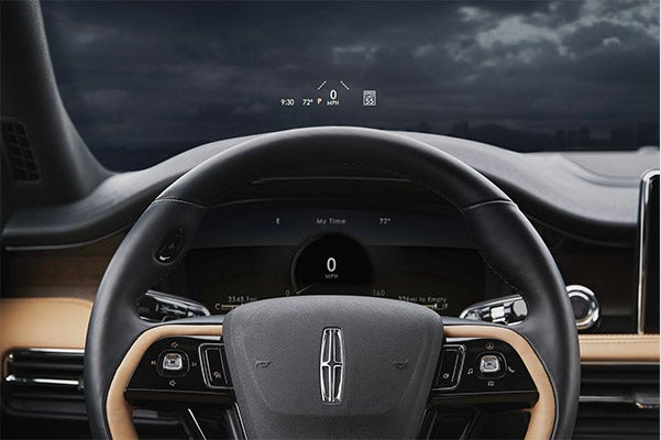 The New 2020 Lincoln Corsair digital heads up display