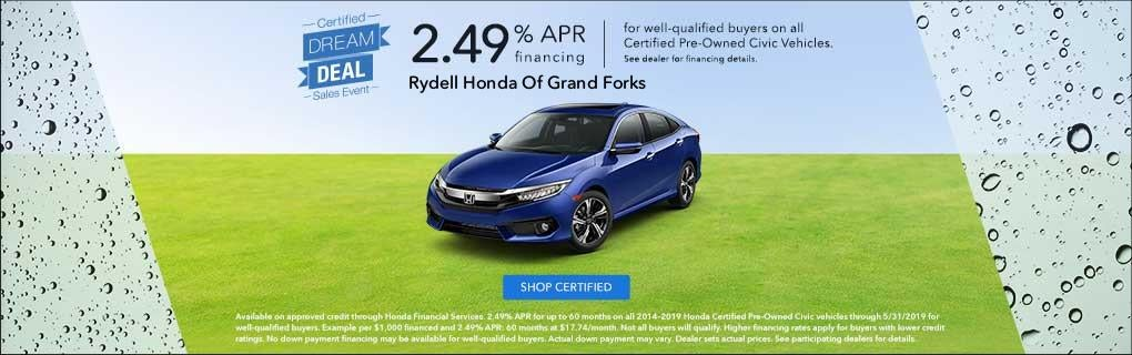New Honda And Used Vehicle Sales In Grand Forks Nd Rydell Honda